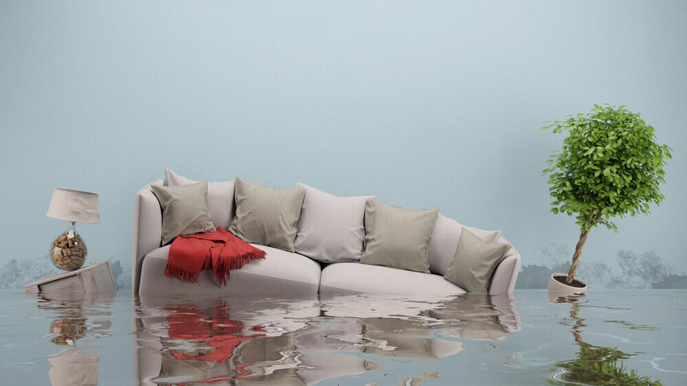 water damage in Virginia beach, VA home