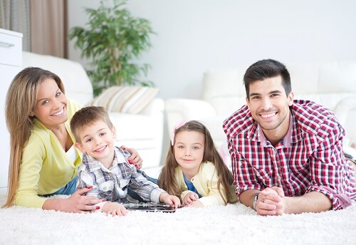 family looking for carpet cleaners near me