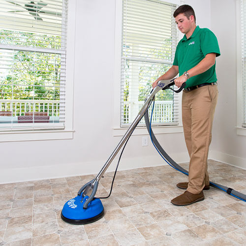chem-dry tech performing tile cleaning in norfolk va