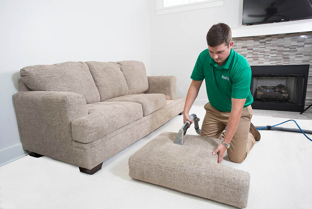 chem-dry tech performing upholstery cleaning in portsmouth va