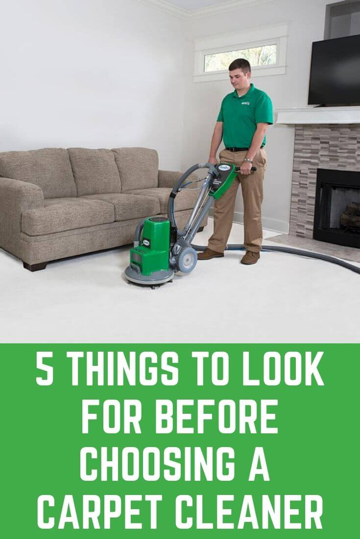 5 Things to Look for Before Choosing a Carpet Cleaner