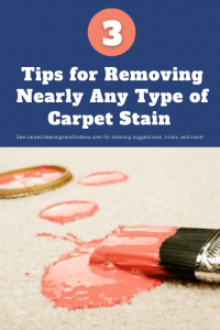 3 Tips for Removing Nearly Any Type of Carpet Stain