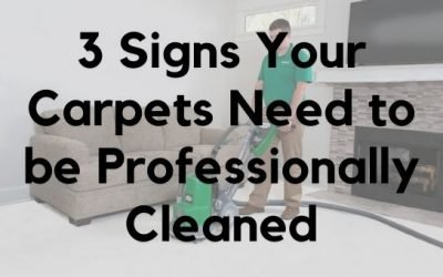 3 Signs Your Carpets Need to be Professionally Cleaned